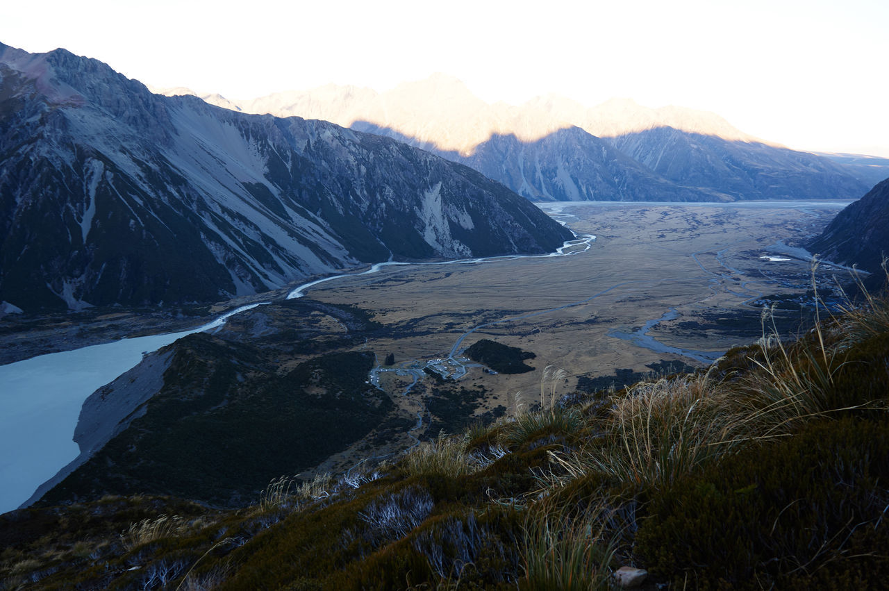 Mt Cook / Canterbury / South Island / New Zealand Beauty In Nature Cold Temperature Day Landscape Mountain Mountain Range Nature No People Outdoors Rock - Object Scenics Sky Snow Water Winter