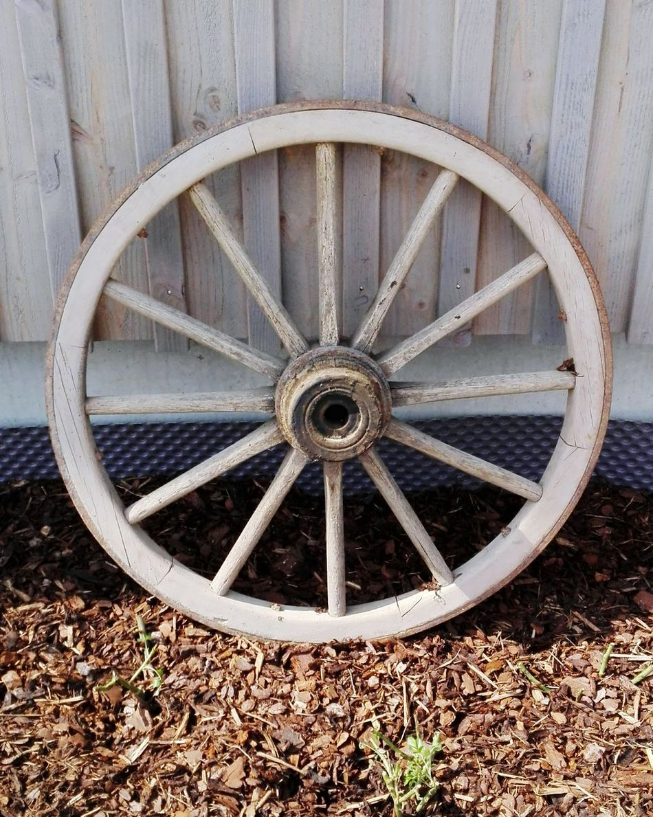 Ein Altes Wagenrad Antique Antiquitäten Antik