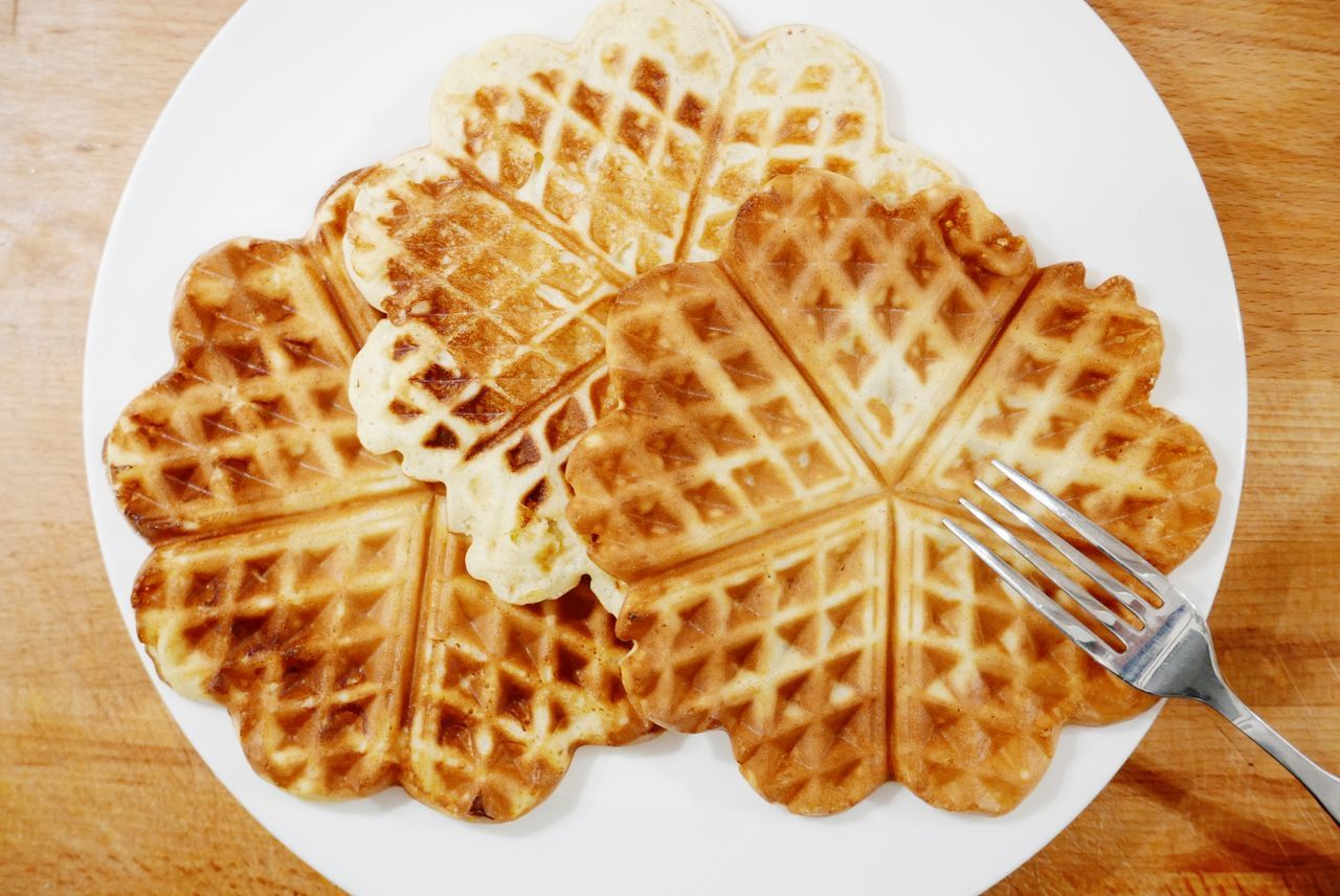 Making waffles at home Cooking At Home Dessert Food Making Waffles No People Waffel Waffle Waffles