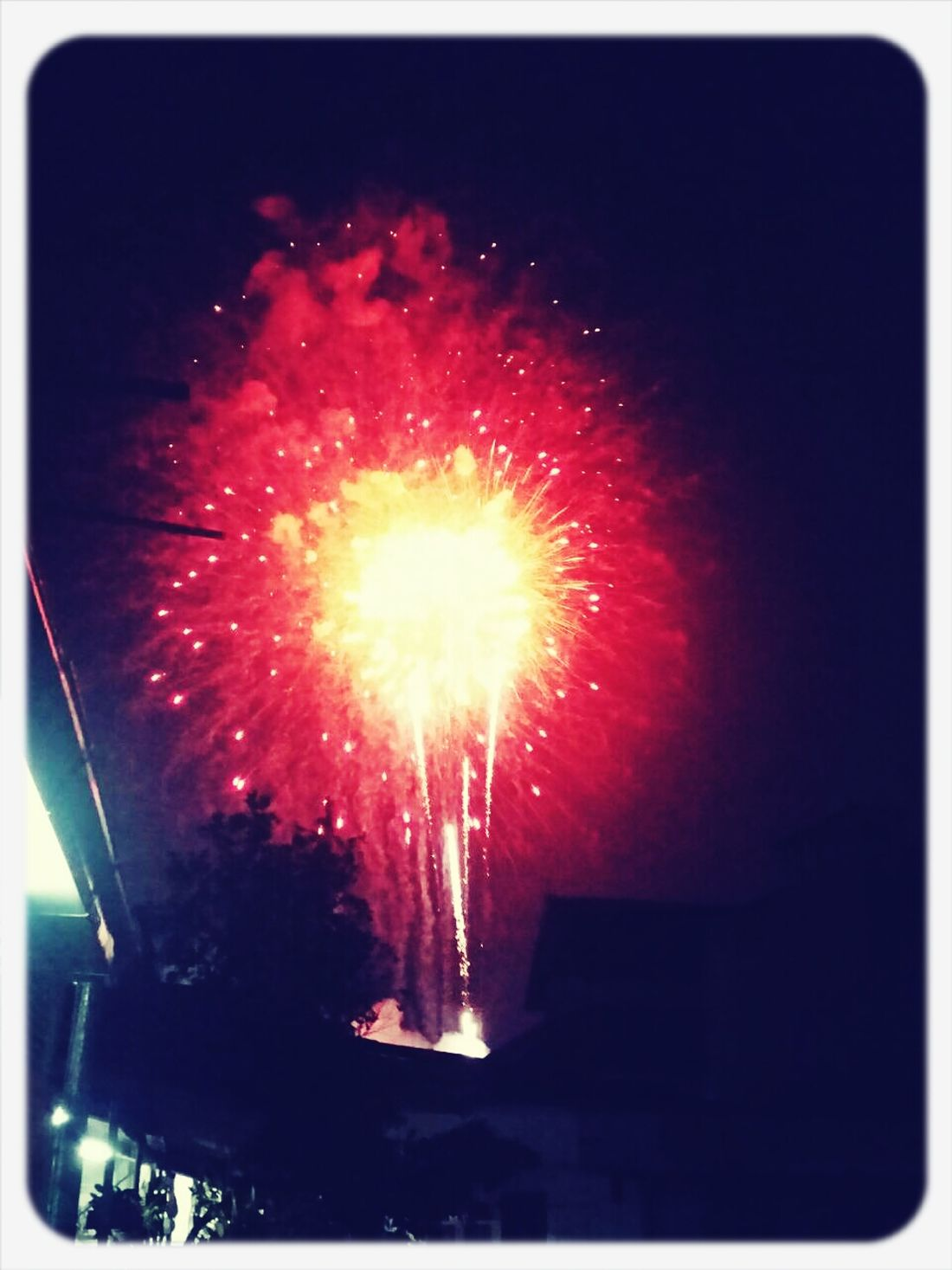 Fireworks Father's Day Chiang Mai   Thailand Lone Live The King