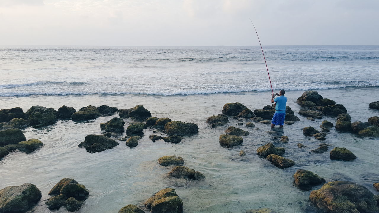 Beautiful stock photos of engel, Beach, Beauty In Nature, Day, Fishing