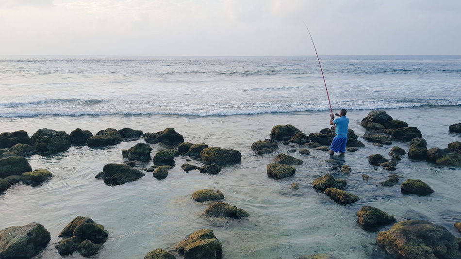Beautiful stock photos of fishing, Beach, Beauty In Nature, Day, Fishing