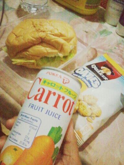 Breakfast Hamburger Carrot Juice Cookies