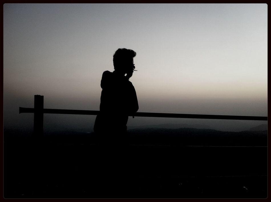Sunset Smoking That's Me Black & White
