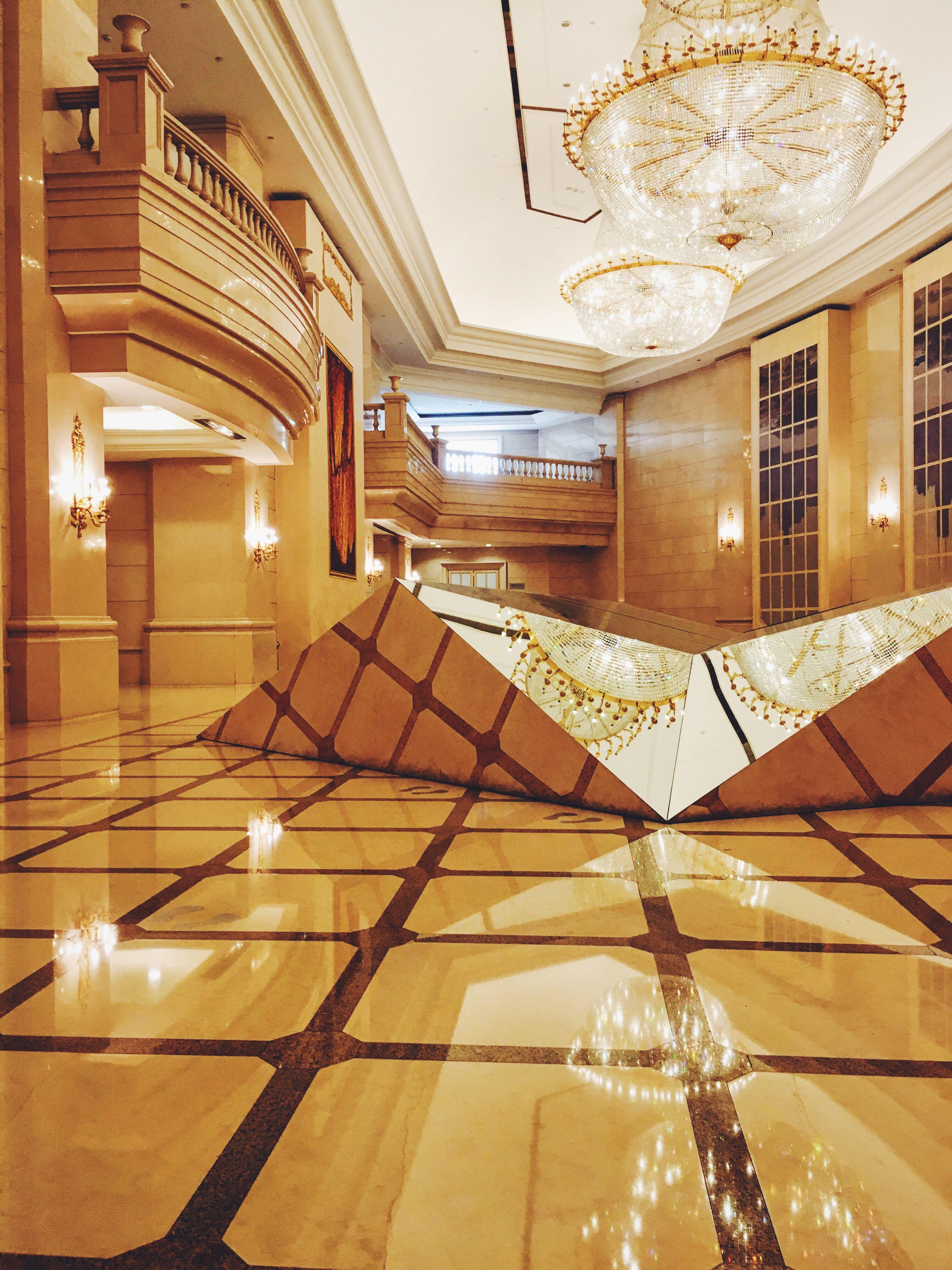 Exhibition @zhendan 43 Golden Moments Zhendan Exhibition Chandelier Glass Reflection Lights
