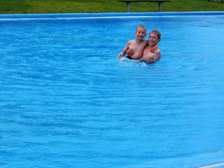 Brothers Happy Time Many Years Ago Memories Of Summer My Kids❤️ Pool Time Swim In Rain Vacation Two Is Better Than One Pooltime Pool Time :)