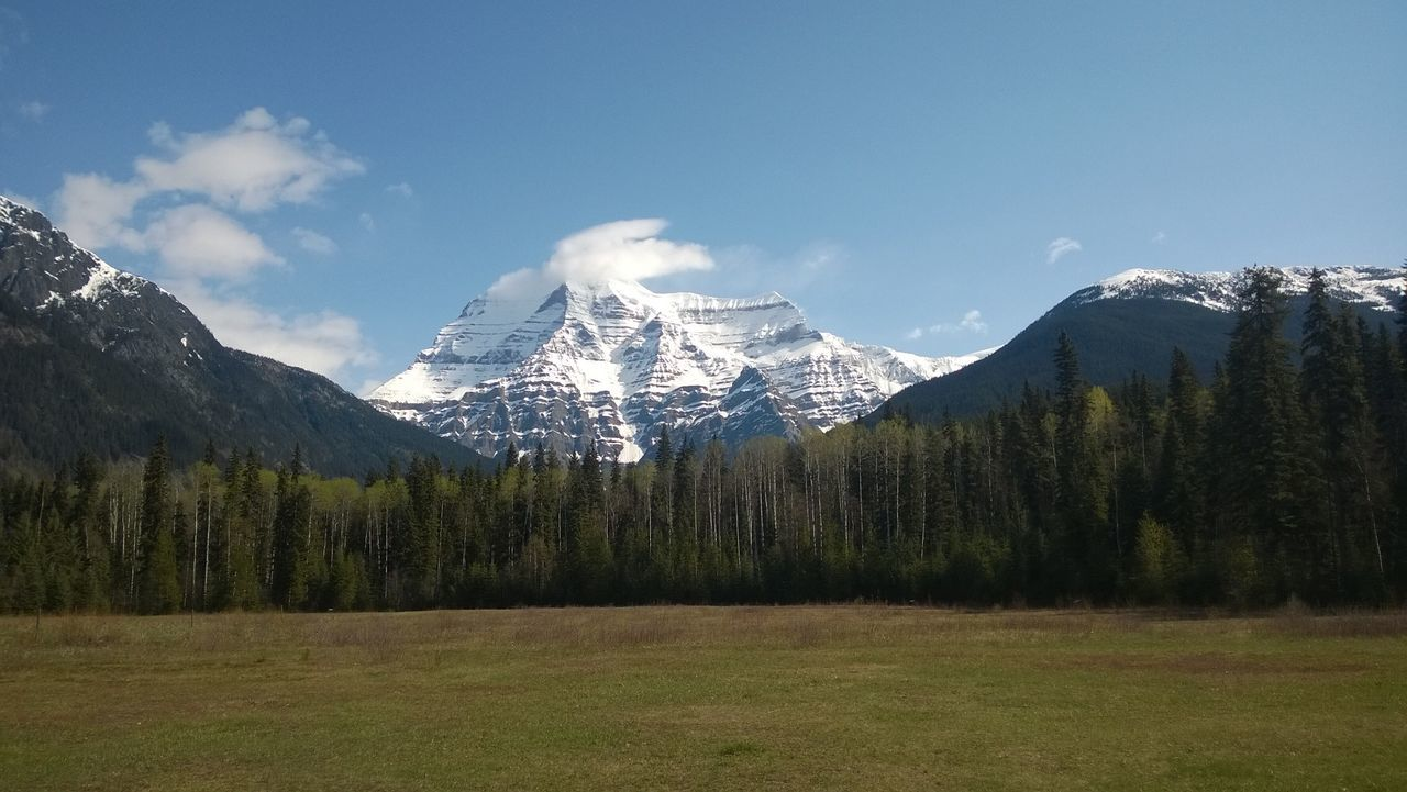Panoramic View Of Landscape And Mountains Against Blue Sky