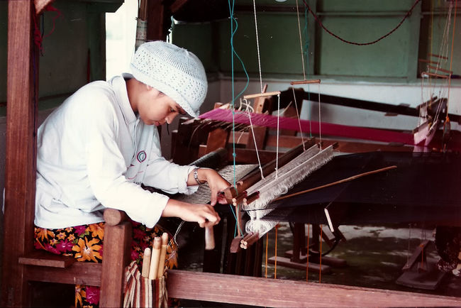Casual Clothing Close-up Girl At Work Holding INDONESIA Person Side View Sitting Working Young Adult