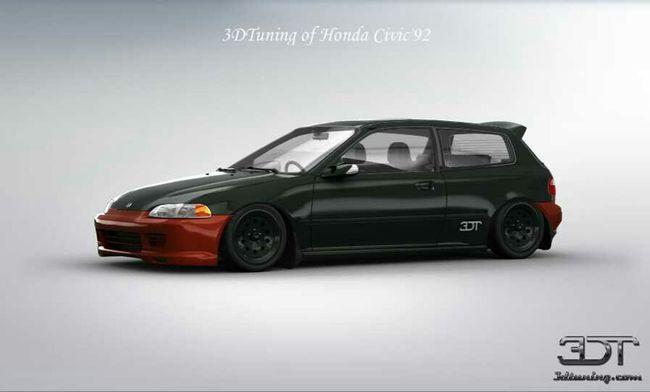 3d Tuning Eg6 Honda Civic Jdm Kanjozoku Touge