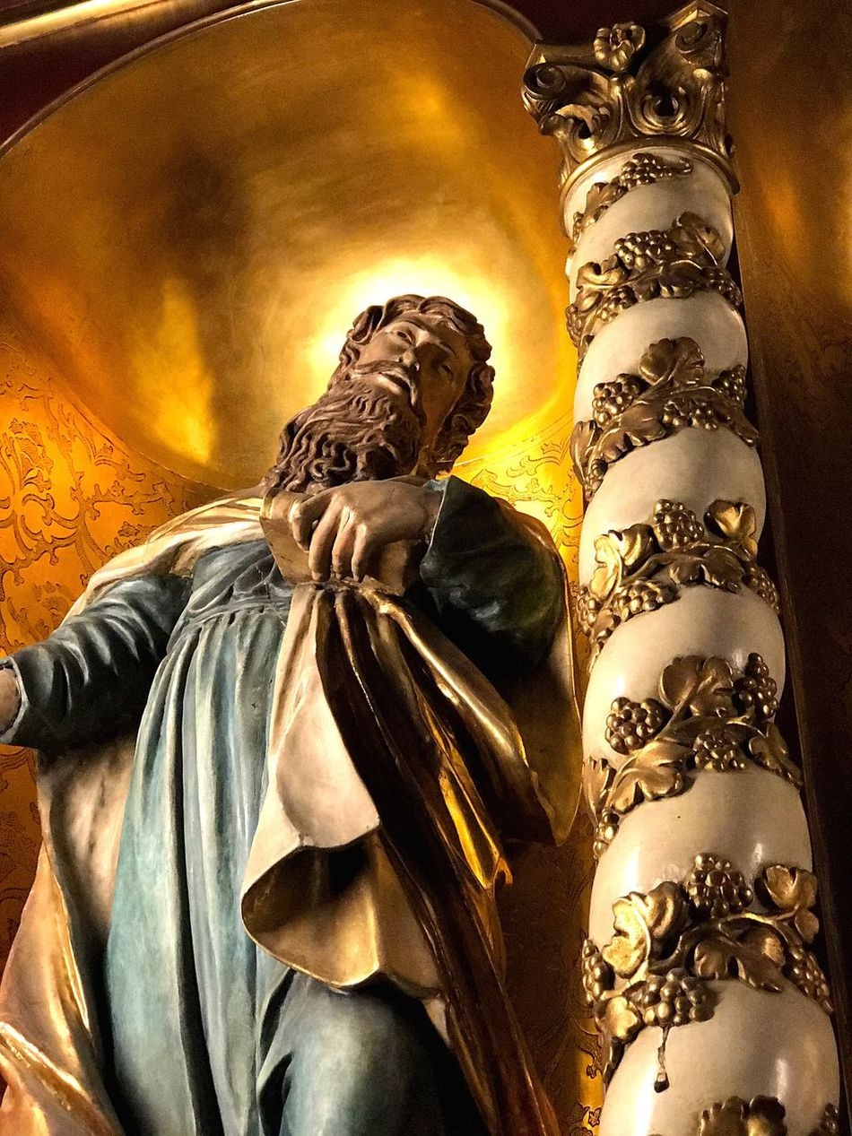 Religion Gold Colored Spirituality Sculpture Gold Golden Perspective Culture Catholic Church Saint Holy Stil Style Art Statue ArtWork Frankfurt