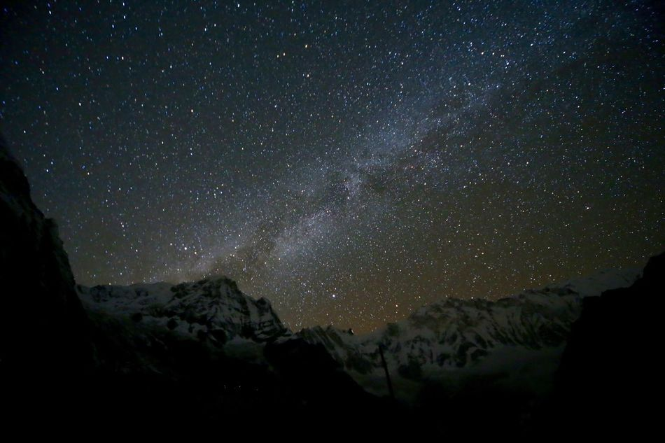 Beautiful stock photos of annapurna,  Astronomy,  Beauty In Nature,  Constellation,  Galaxy
