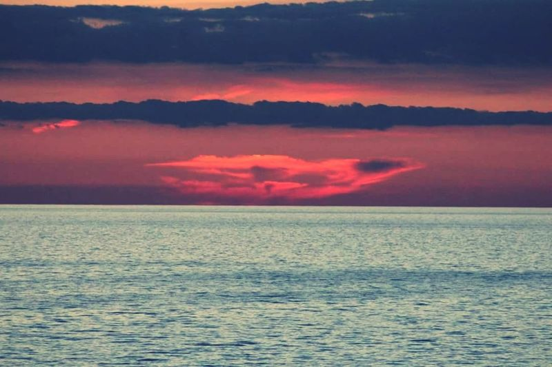 Perspectives On Nature Sunset Sea Cloud - Sky Horizon Over Water Nature Beauty In Nature Outdoors Tranquility No People Sky Multi Colored