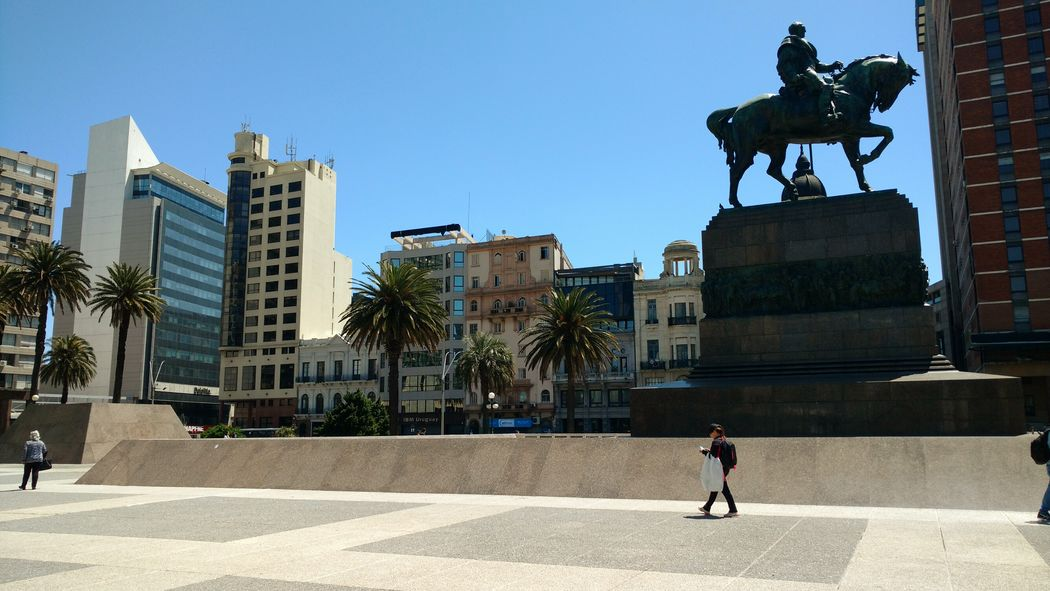 Montevideo,Uruguay Artigas Statue In The City