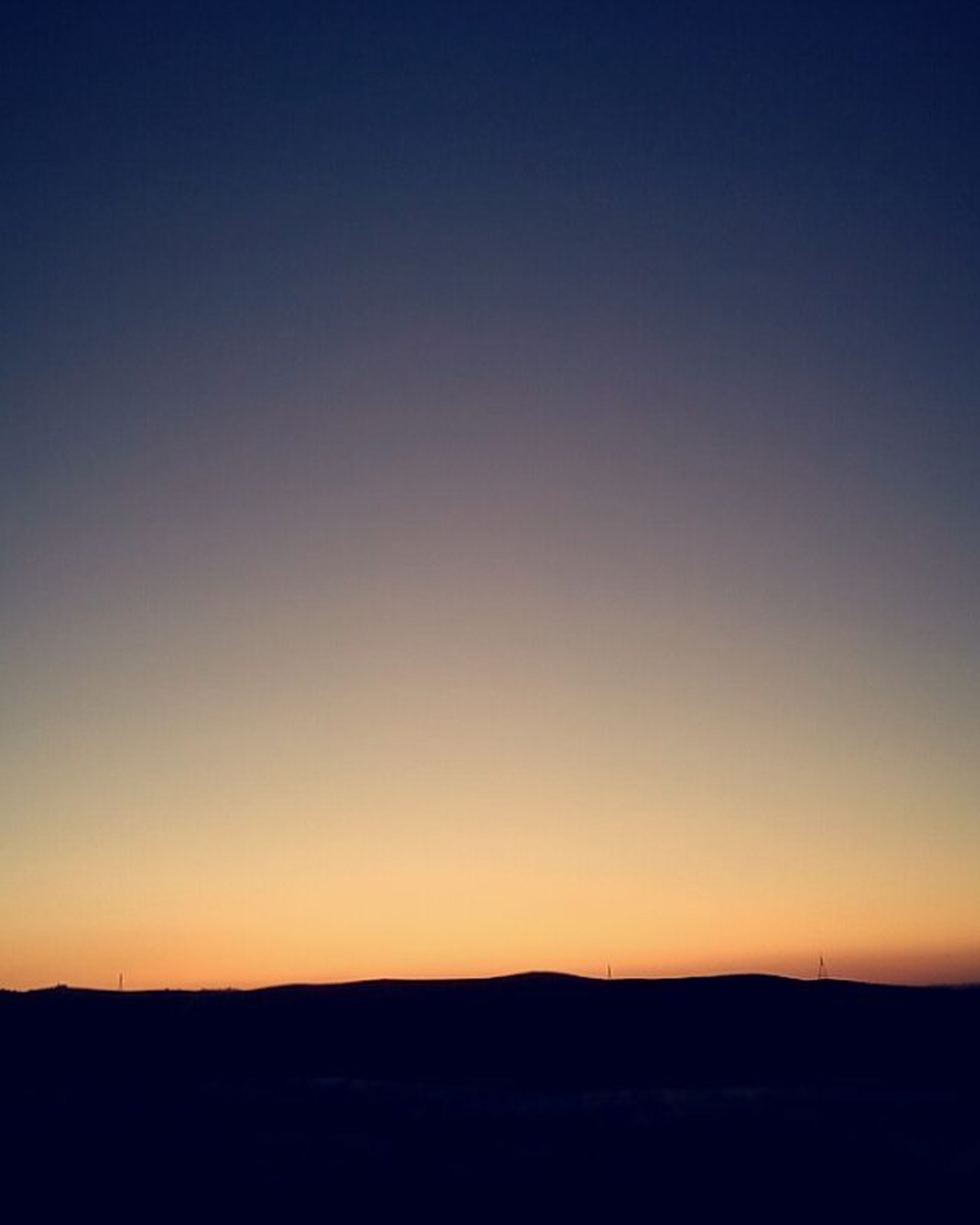 How far is the horizon? Sky Sunset Colorfulsky Clearsky Horizon Hills Rural Village Jordanvillages Clear Calm Silence Simplicity Complex Thoughts Thinking Pensive Melancholy Shadows Black Nofilter Nature Myhtc
