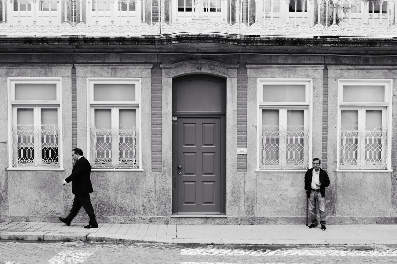 Building Exterior Built Structure Door Walking Men People City Architecture Bw_collection BW_photography Streetphotography_bw Streetphoto_bw Streetphotography EyeEmNewHere WeekOnEyeEm City Oporto, Portugal