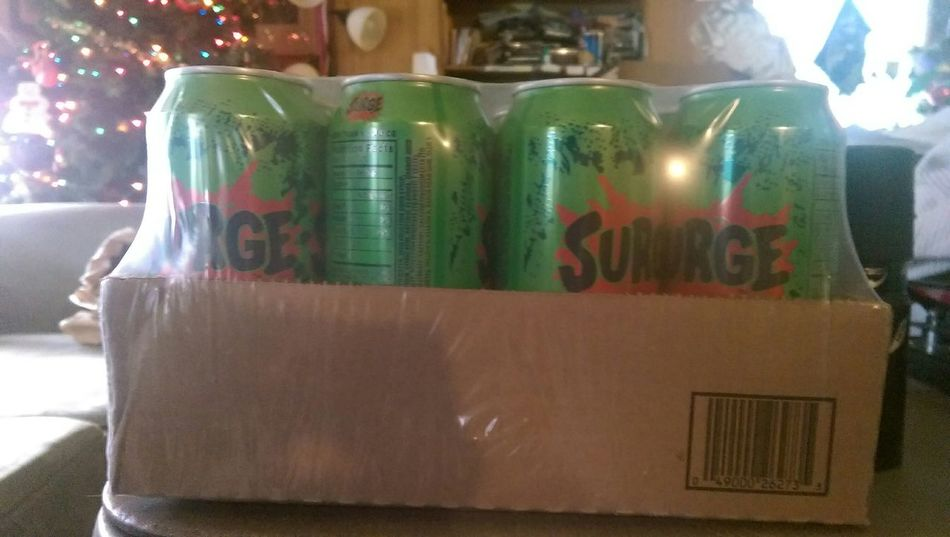 My Package of Surge Soda came today, many thanks to My pal Sam Rayborg.