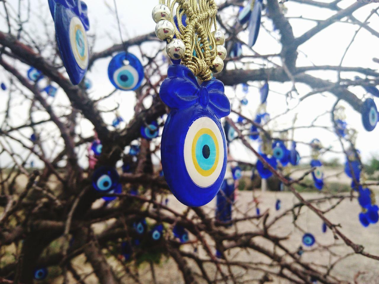 Blue Evil Eye Wish Tree Blueeye Talisman Turkisheye Tradition Turkey Wish Tree Cappadocia Mobile Photography Blue Colours No People Close-up Outdoors Tree Decoration Cappadocia/Turkey