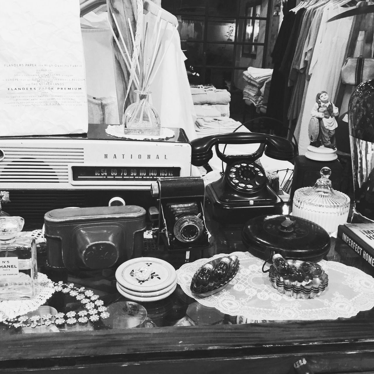 old-fashioned, retro styled, telephone, indoors, communication, table, rotary phone, landline phone, telephone receiver, antique, no people, variation, choice, technology, cash register, day, close-up