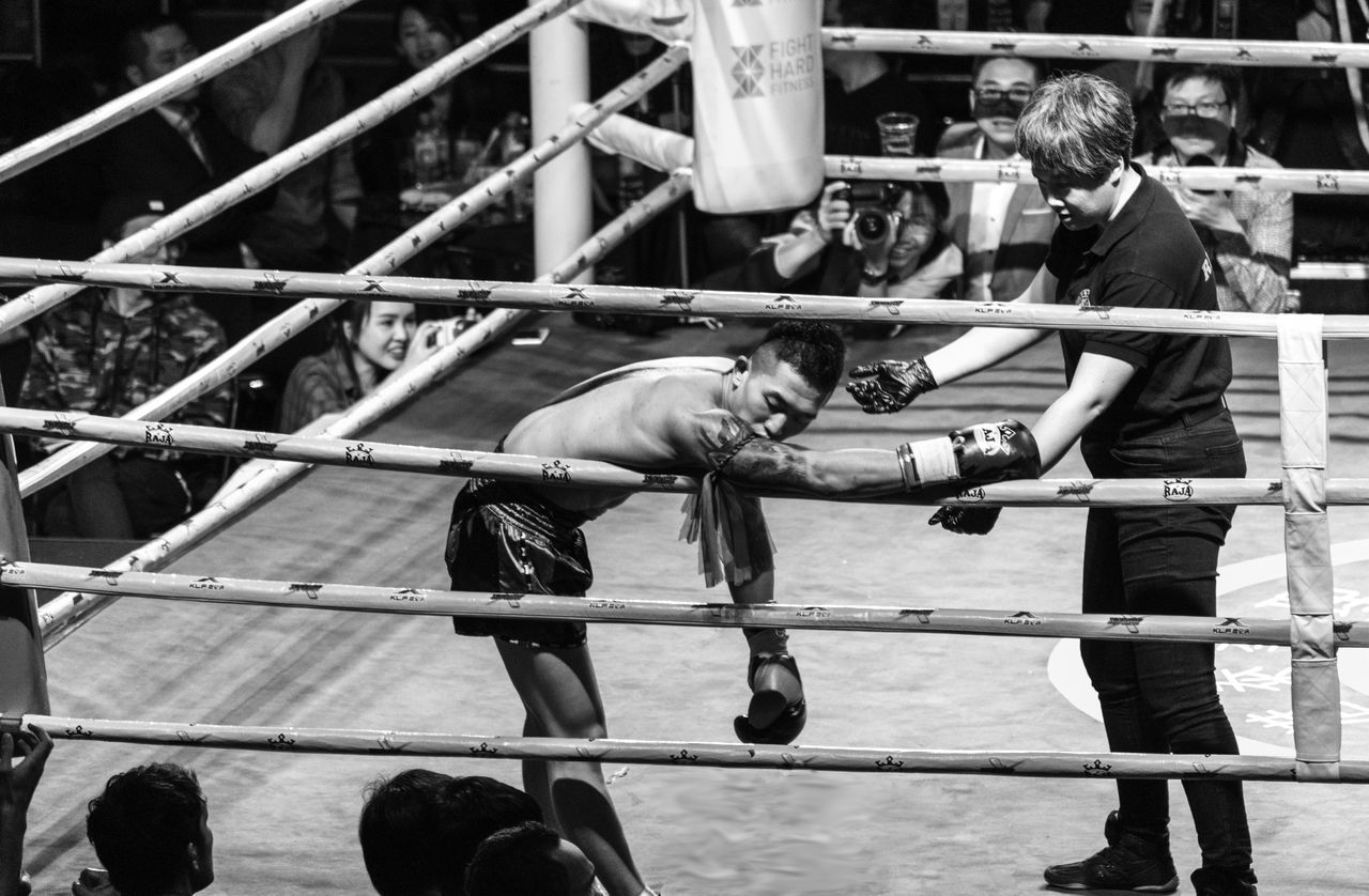 A mixed martial arts fighter after getting a strong punch Boxing - Sport Boxing Glove Boxing Ring Combat Sport Competition Fighting Hitting Lifestyles Martial Arts Mixed Martial Arts Muay Thai Muay Thai Fighter People Punching Sport Sportsman The Photojournalist - 2017 EyeEm Awards