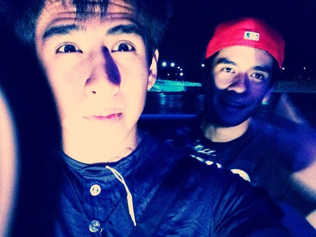 Hanging Out casual somos guapos xD !!