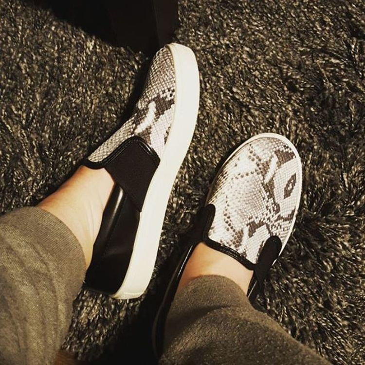 New shoesss Snakeskin Notreally Slipons Newshoes Topshop Sweatpantsandslipons Whathaveibecome