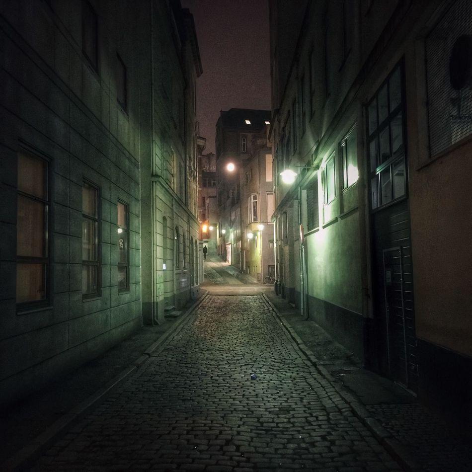 Fiskergyde in the centre of Aarhus, Denmark at night. Fiskergyde Aarhus Aarhus, Denmark Aarhus Downtown Aarhus In The Night Denmark Danmark Street Evening
