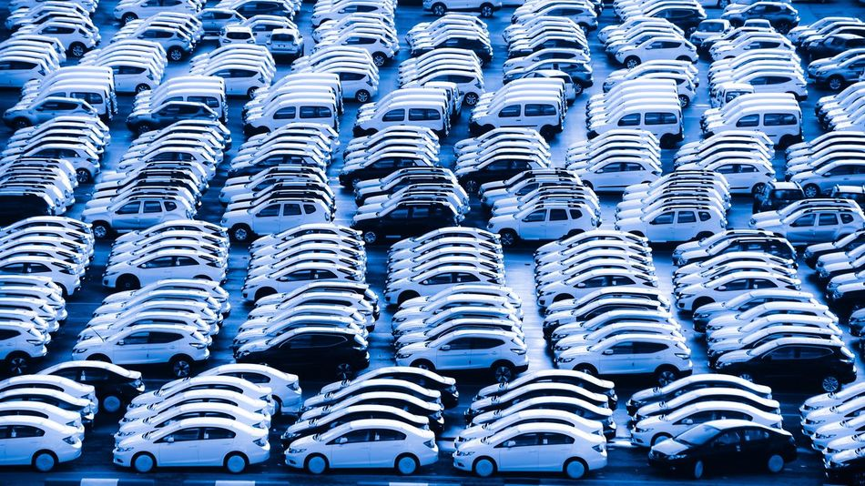 Abundance Automobile Blue Business Car Cars Day Export Export Industry Full Frame In A Row Large Group Of Objects Logistic Logistics Mode Of Transport No People Outdoors Stadium Transportation Business Stories