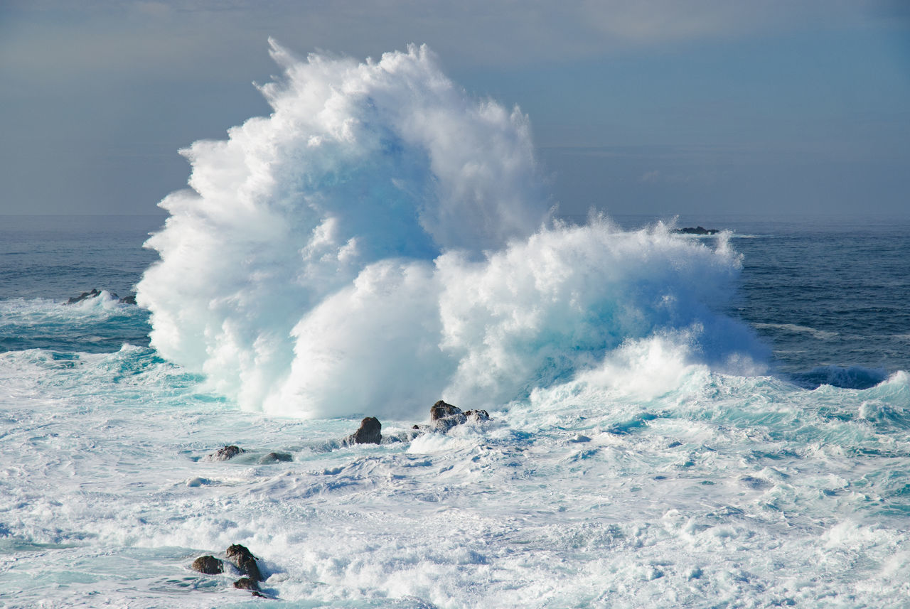 Beautiful stock photos of meer, Beauty In Nature, Crashing, Day, High Tide