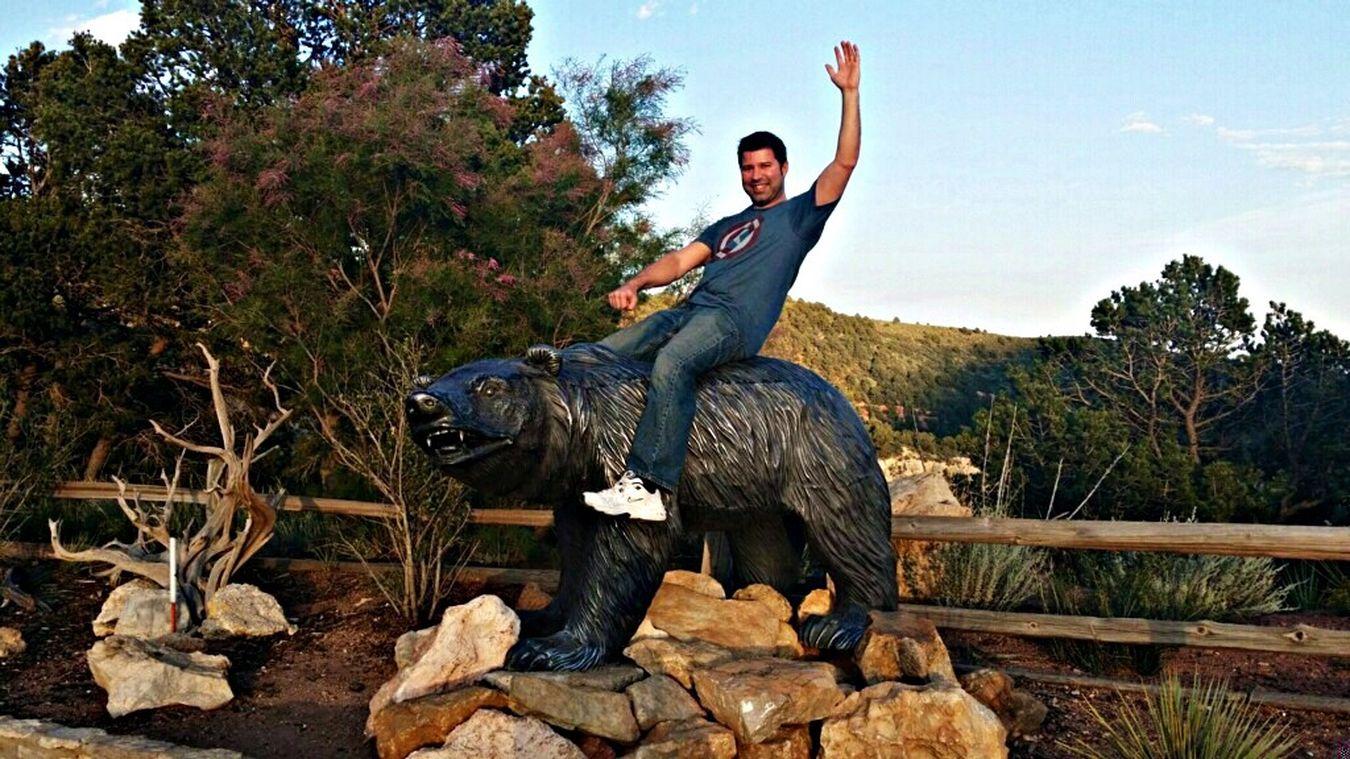 Colorado Cave Of The Winds Bear Having Fun