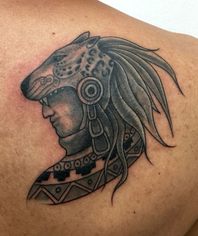 Tattoo JAGUAR Guerrero Prehispánico  Azteca Tradición Raíces