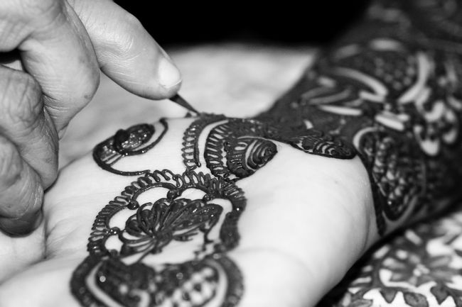 Art ArtWork Black & White Black And White Black And White Photography Blackandwhite Bodyart Canon Canonphotography Close-up Cultures Focus Object Henna Human Body Part Human Hand India Life Events Maximum Closeness Monochrome Mumbai People Real People Tokina Wedding Women