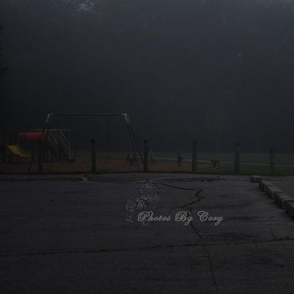 Yeah I've seen this movie I'm not hanging out here! Creepyfog Playground Foggy Creepyplayground