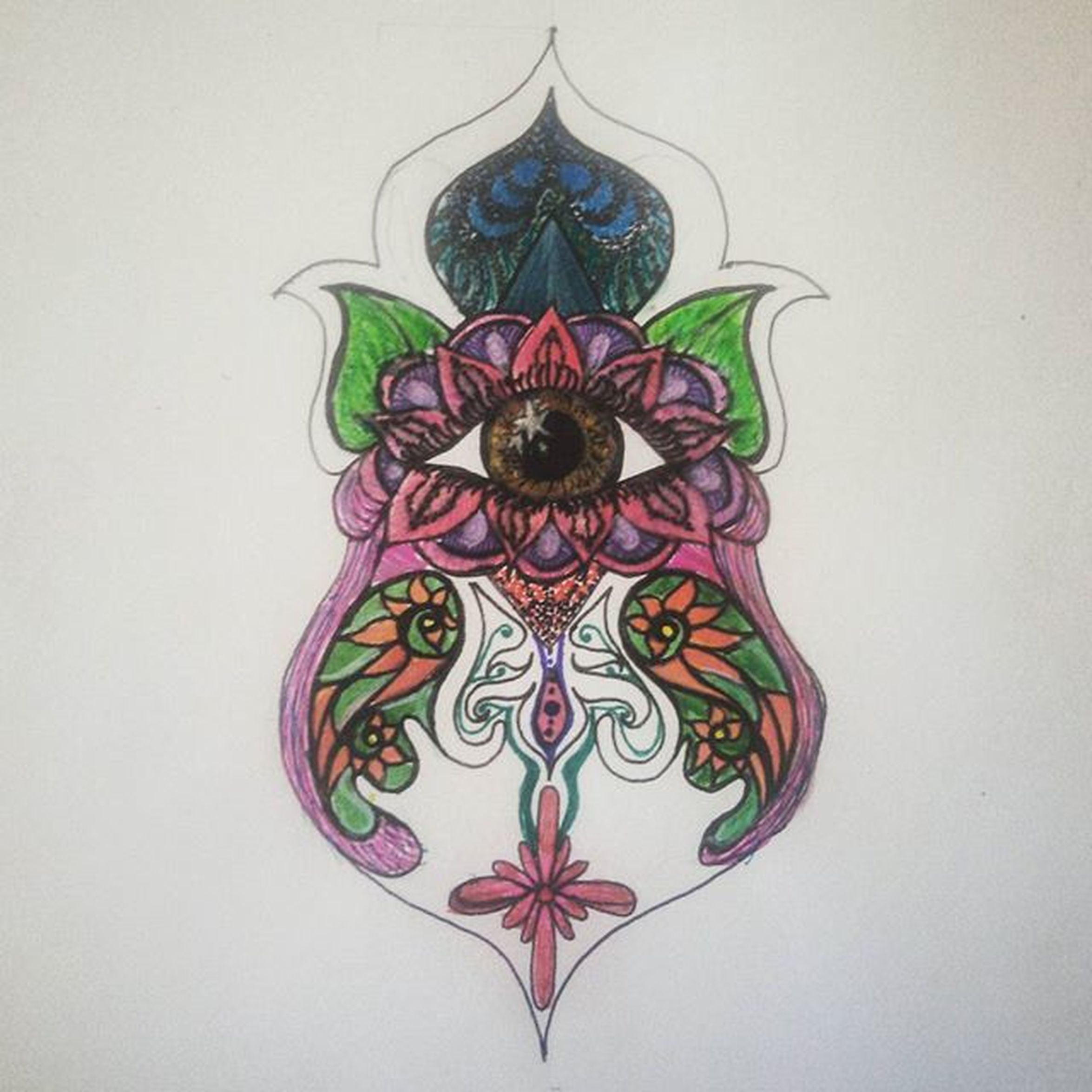 Second one I've drawn like this, work in progress, possibly the the start of a STERNUM Tattoo Design