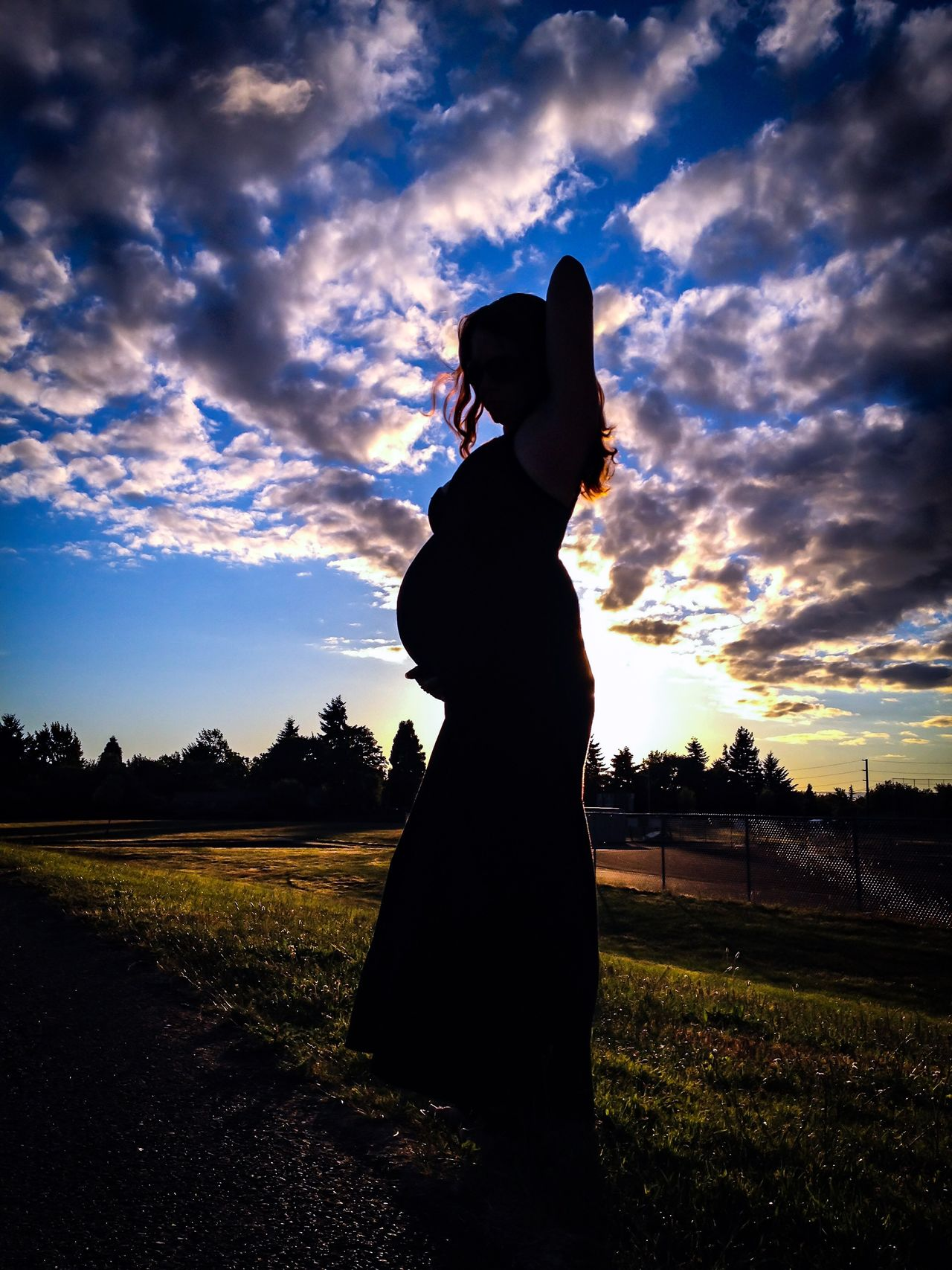 Beauty In Nature Cloud Cloud - Sky Idyllic Nature Non Urban Scene Non-urban Scene Outdoors Pregnant Pregnant Photography Remote Scenics Shot Of A Life Silhouette Sky Sunset Tranquil Scene Tranquility