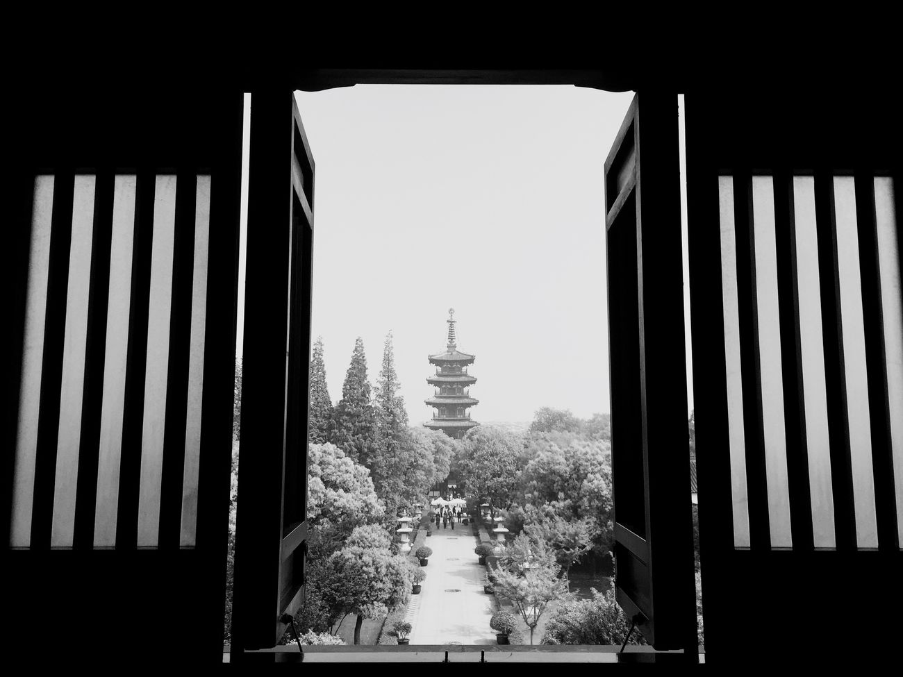 Park Blackandwhite Suzhou, China Hanshan Temple Temple - Building IPhoneography