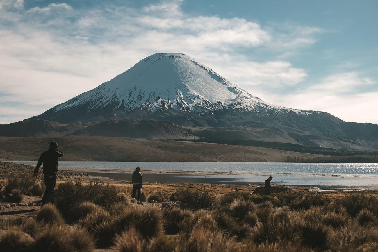 Amazing View Andes Chile Friends Trip Lagoon Mountain National Park Nature Outdoors Parinacota Parque Nacional Lauca Y Putr Putre Snow Snowcapped Mountain Vacations Volcano