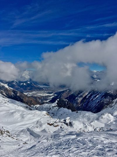 View from Kitzsteinhorn down to Zell am See / Kaprun Kitzsteinhorn Cloud - Sky Blue Sky Valley View Ski Resort  Kaprun Langwied EyeEm Selects EyeEm Selects Breathing Space Lost In The Landscape Second Acts Perspectives On Nature Shades Of Winter Shades Of Winter An Eye For Travel