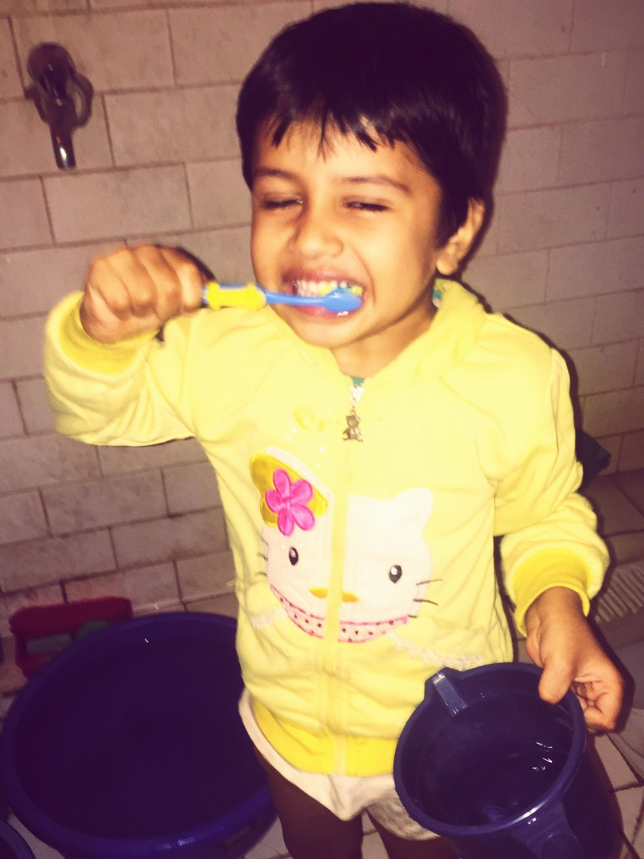 My 5 year son Harshit brush his tooth twice a day (morning& evening) isn't this good habit