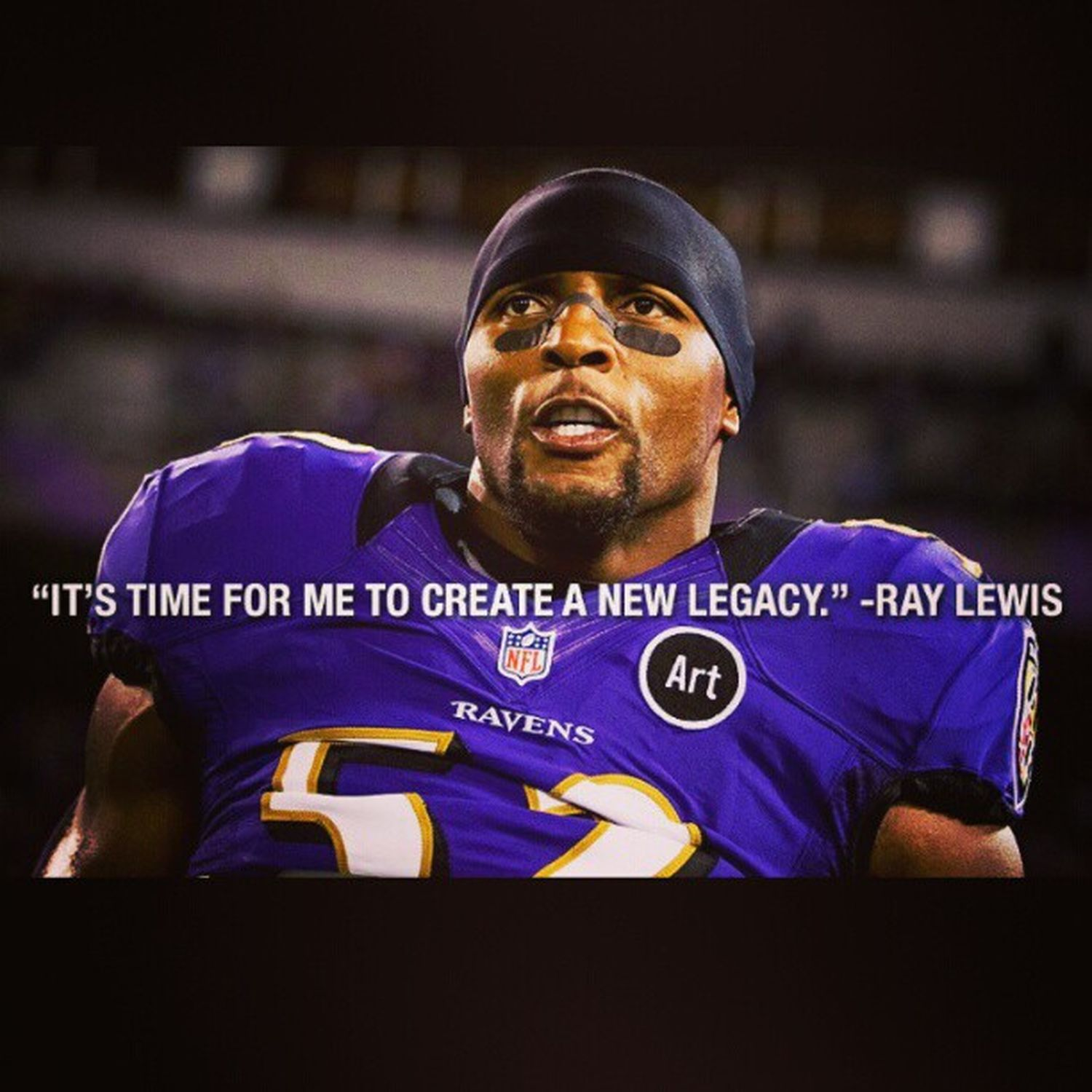 Ray Lewis announced his retirement today. He is truly an inspiration. Ravens RayLewis Greatestlinebacker Ofalltime halloffamer