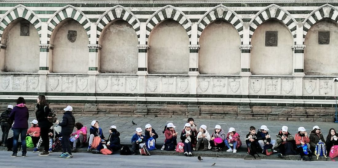 Architecture Building Exterior Built Structure Children Church Large Group Of People Real People Travel Destinations