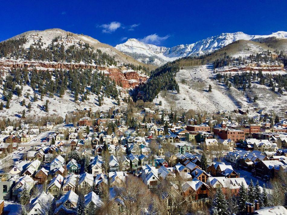 Beautiful Nature Colorado Day Freshair Mountain Mountain Range Outdoors Ski Skiseason Sky Snow Snow ❄ Snowcapped Mountain Telluride Village Winterwonderland