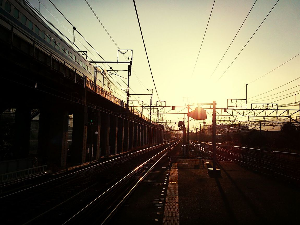 Rail Station Shinkansen Sunset