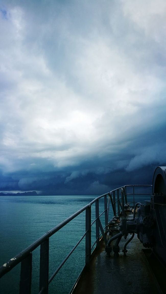 Water Sea Pier Tranquil Scene Tranquility Railing Scenics Horizon Over Water Sky Cloud - Sky Dusk Jetty Beauty In Nature Nature The Way Forward Long Calm Storm Cloud Cloud Cloudy Boat Sailing Tourism Transportation
