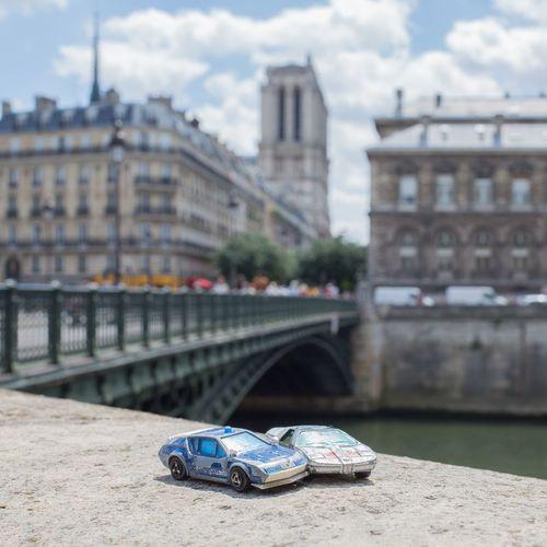 EyeEm Selects Pinpon Gendarmerie Bmw Quai De Seine La Seine Paris Notre Dame Cathedral MAJORETTE Toyphotography Nostalgic  Paris Plage