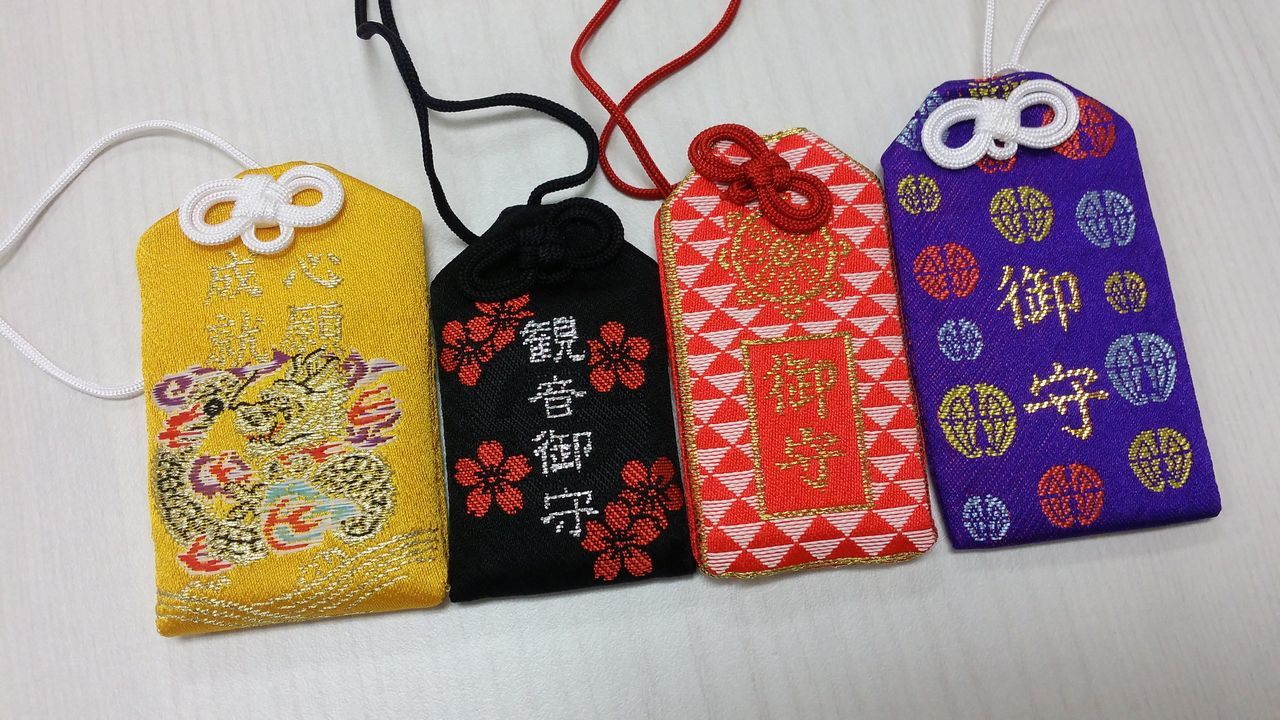 Multi Colored No People Choice Variation Close-up Indoors  Day Omamori Lucky Charm Charm Japanese Lucky Charm