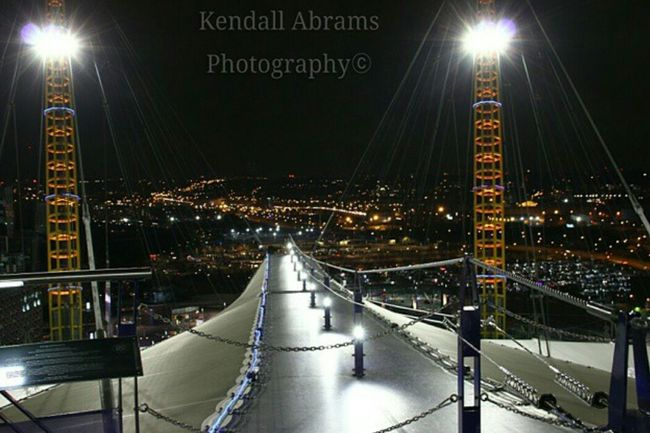 O2 Arena Upintheair Nightphotography Scenics Beauty In Nature Outdoors Landscape