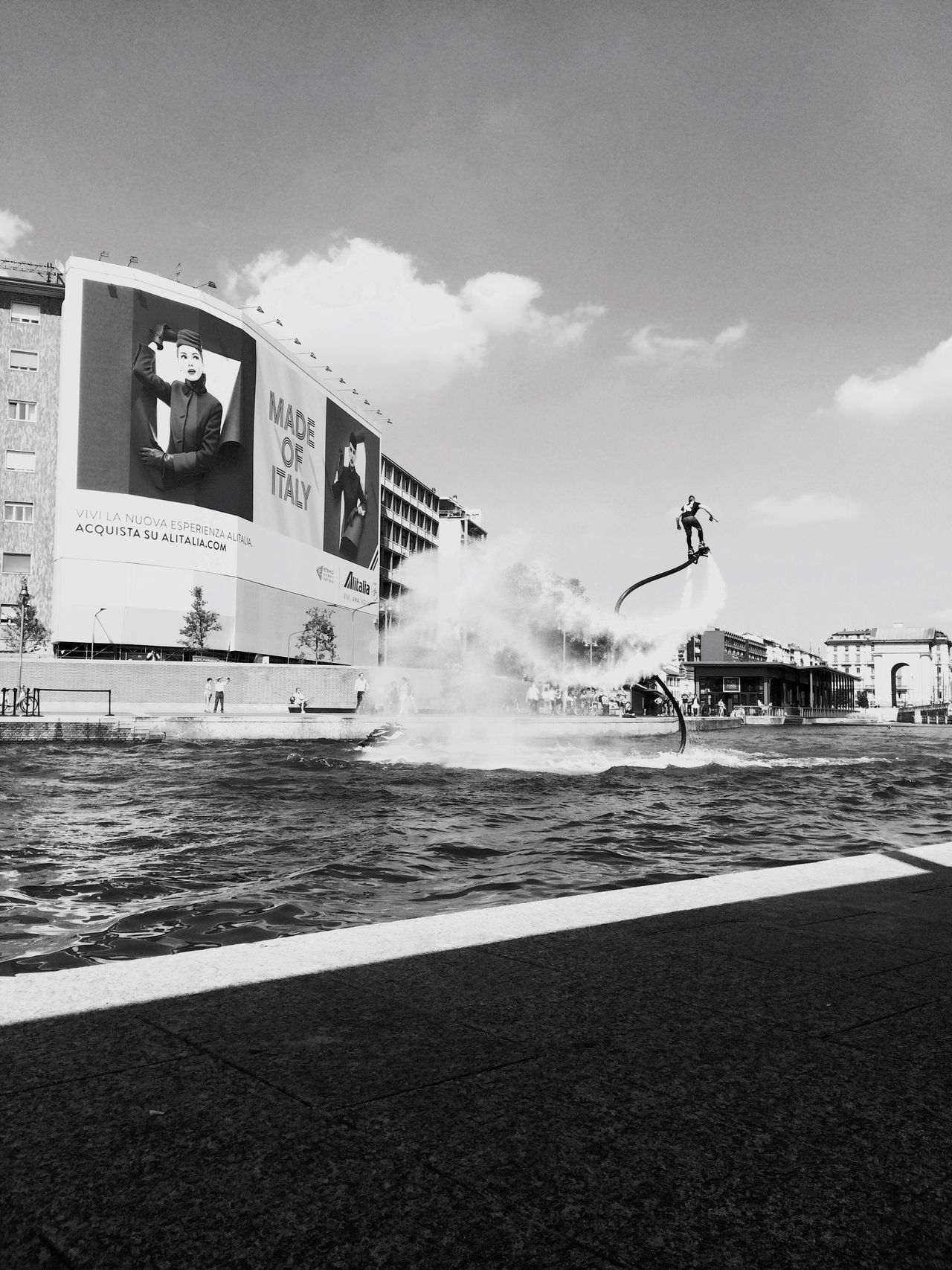 Darsena Milan,Italy Flyboard Water Stunts Beautiful Moment Beautiful Day Landascape Love Photography Cool City Life Filters & Effects Black & White 4 IPhone 5S 2016☀️