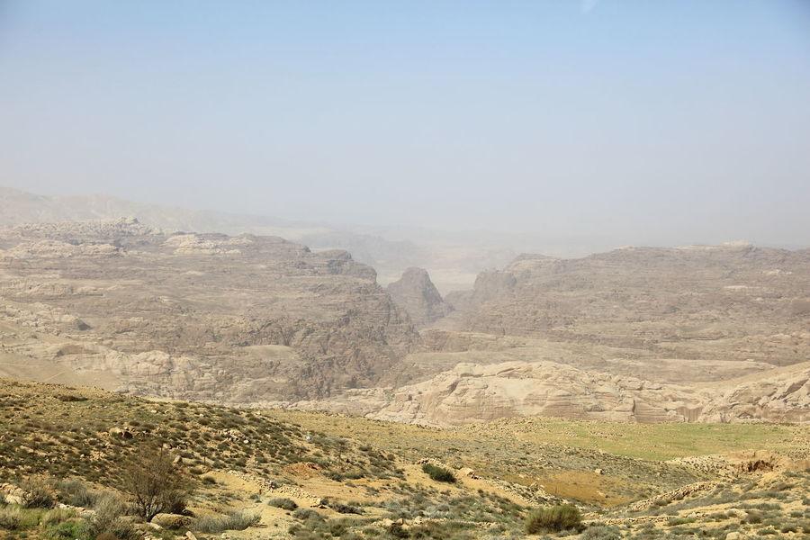 Petra mountains, Jordan Arab Kingdom Arid Climate Arid Landscape ASIA Clear Sky Desert Hashemite Kingdom Highlands Jordan Landscape Mountain Mountain Range Nabatean Nabatean Kingdom Near East Outdoors Petra Mountains Scenics