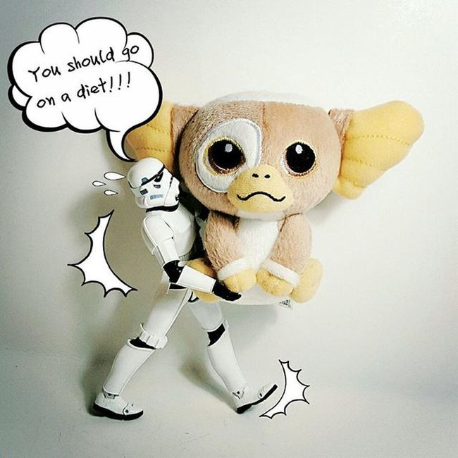 Stormtrooper Starwars Model Love Ondiet Figure Actionfigure Actionfigures Instapic Comics Funny Fashion Bnw Photogrid Photooftheday Him Quote Boy Toy Photo Heavy Strong Gremlinsgizmo Gremlins MOVIE disney hongkong capture caption