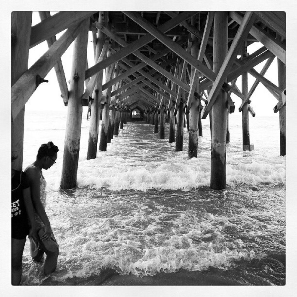 Pier pictures. Sunrise Vacation Pier Myrtlebeach South Carolina Beach Life Beach Soltitude Capture The Moment Moments In Time! Blackandwhite
